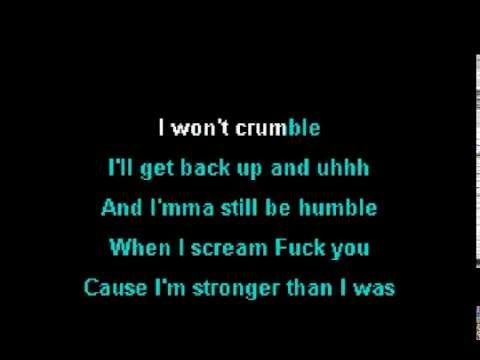 Eminem - Stronger Than I Was (Karaoke Instrumental) On Screen Lyrics