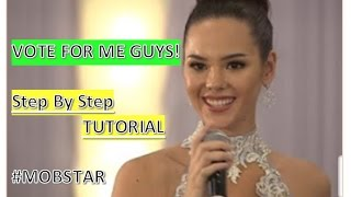 Catriona Gray: How to VOTE on MOBSTAR (Step by Step Tutorial) - Miss World 2016
