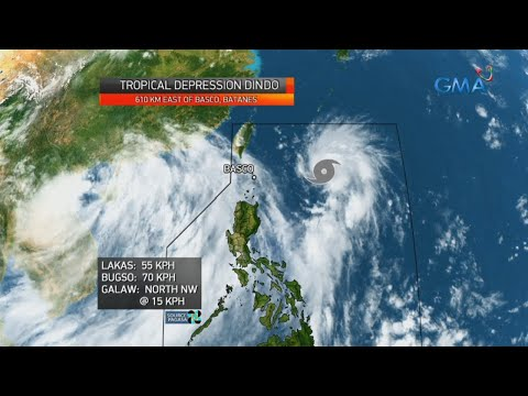 [GMA]  24 Oras: LPA na binabantayan ng PAGASA, naging ganap nang bagyo