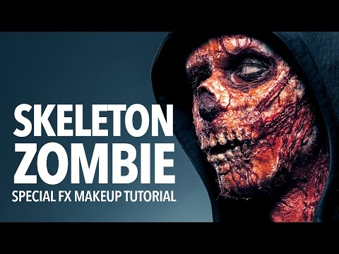 Skeleton zombie special fx makeup tutorial