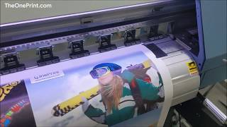OnePrint Low Cost Small Digital Vinyl Banner Printing Machine With XP600
