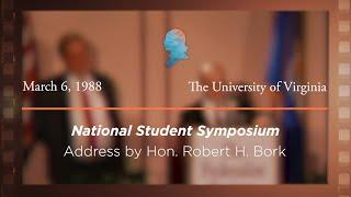 Click to play: Banquet Address by Hon. Robert H. Bork