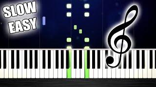 Flea Waltz - Flohwalzer - SLOW EASY Piano Tutorial by PlutaX