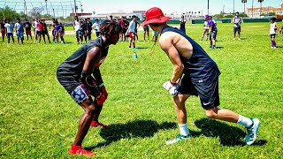 THIS 14 YEAR OLD IS A FUTURE NFL PLAYER.. (YOUTH 1ON1'S FOR $1000)