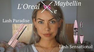 L'Oreal Lash Paradise vs Maybelline Lash Sensational
