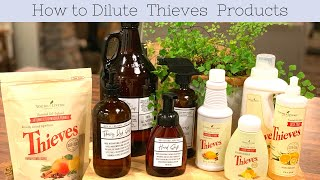 How To Dilute The Young Living Thieves Cleaner Line