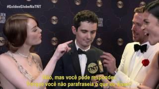 GoldenGlobeNaTNT  Entrevista Com Emma Stone Damian Chazelle E Ryan Gosling