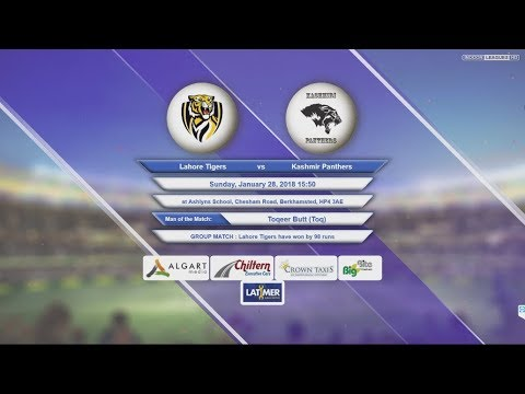 Video Lahore Tigers VS Kashmir Panthers - 28-Jan-2018