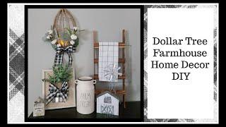 Dollar Tree Farmhouse Decor DIY | Home Decor |