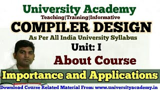 L2:Compiler Design Tutorial in Hindi Course Overview Compiler Construction Compiler Lectures hindi
