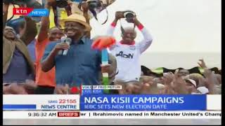 Fred Muturi gives updates on  the Kisii rally