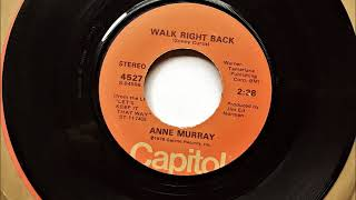 Walk Right Back , Anne Murray , 1978