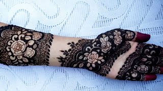 New Full Front Hand Bridal Mehndi Design||Simple  Dulhan Arabic Henna Mehndi Design| ब्राइडल मेहंदी
