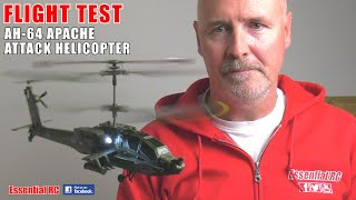 CHEAP TO BUY and EASY TO FLY !!! SYMA S109G AH-64 APACHE ATTACK HELICOPTER: ESSENTIAL RC FLIGHT TEST