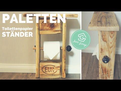Toilettenpapierhalter aus Paletten | Upcycling-DIY | Klopapierhalter selber machen | How to