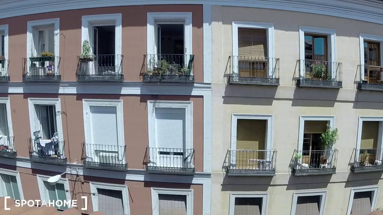 Great room with ample storage in 2-bedroom apartment, Lavapiés