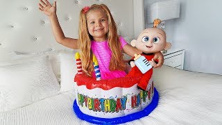 Диана и непослушная Кукла / Diana Pretend Play with Baby Doll & Toys