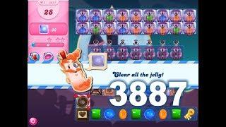 Candy Crush Saga Level 3887 (3 stars, No boosters)