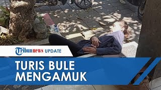 Bule Inggris Ngamuk Hingga Hendak Telanjang di Depan Kantor Kecamatan Badung