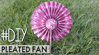 DIY Pleated fan - Paipay plisado #3