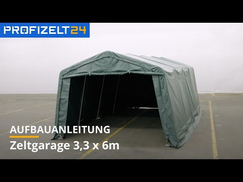 Zeltgarage (PVC) - Aufbau 3,3x6m Premium