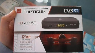 Opticum AX 150 HD Satellite Receiver Video Review 720P