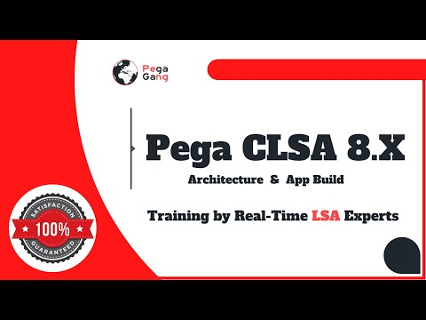 Pega LSA Architecture App Build Design Application Build Exam ...