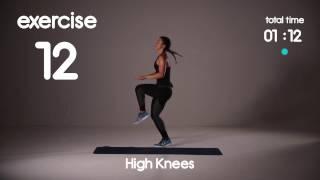 5分鐘Cardio HIIT鍛煉減肥 -  40s / 20s間隔 - 家庭鍛煉 出處 Group HIIT