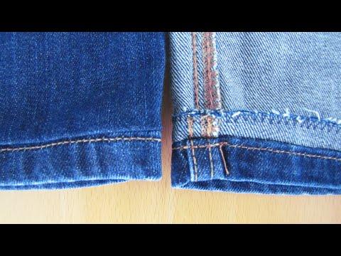 Jeans kürzen und den Original-Saum erhalten