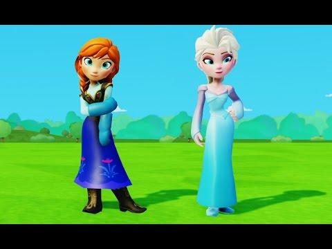 Королева Эльза Холодное Сердце Принцесса Анна и Олень Свен Disney Frozen Anna and Elsa princess видео