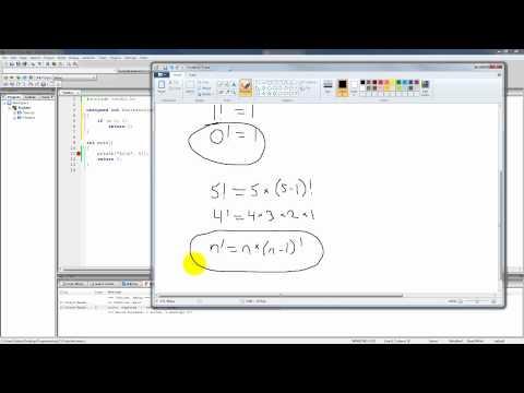 C Programming Tutorial 85, Recursion pt.1