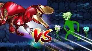 Dinosaurs Battle   SUPER HERO Dinosaurs VS Zombie
