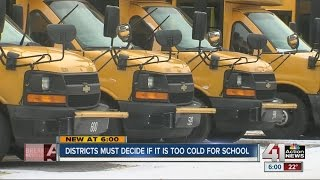 Districts must decide if it's too cold for school