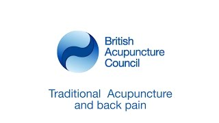 Traditional Acupuncture and Back Pain