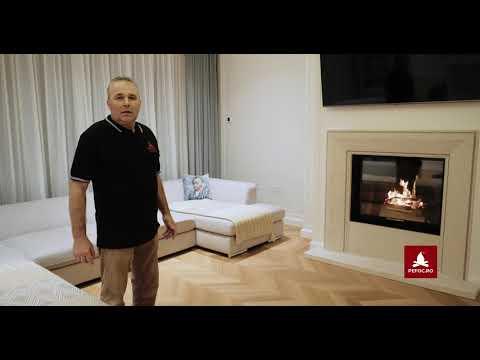 Focar premium HOXTER prezentare aprindere si ardere - primul foc in semineul pe lemne