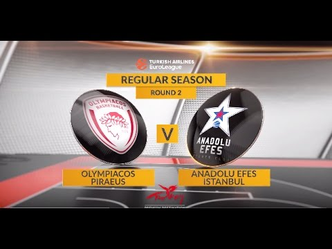 EuroLeague Highlights RS Round 2: Olympiacos Piraeus 90-66 Anadolu Efes Istanbul