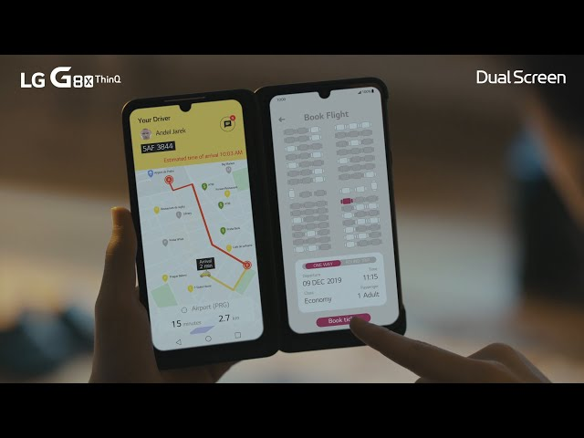 LG G8X Dual Screen | Taxi + Check-in