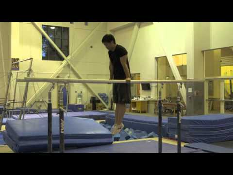 Inverted Shrug (on parallel bars)