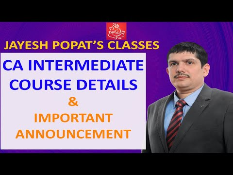 CA Intermediate - Course Introduction