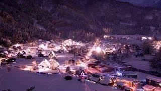 【岐阜県】しっとり冬の白川郷