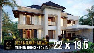 Video Desain Rumah Modern 2 Lantai Bapak Steven di  Surabaya