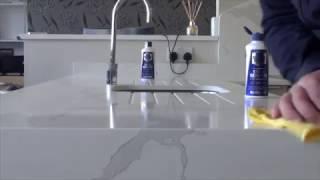 Cleaning Quartz Worktops Calacutta removing stains