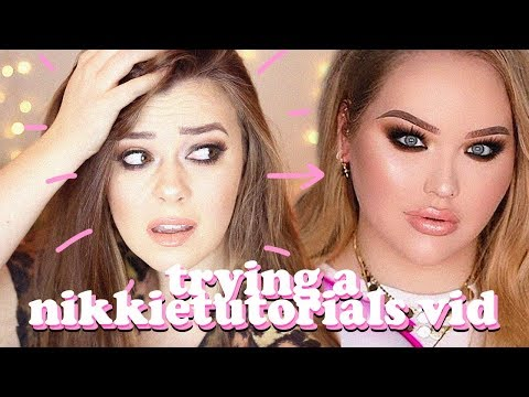 AVERAGE GIRL TRIES FOLLOWING A NIKKIETUTORIALS MAKEUP TUTORIAL | LUCY WOOD