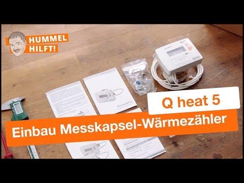 QUNDIS-Montagevideo: Einbau des Messkapsel-Wärmezählers Q heat 5 IST