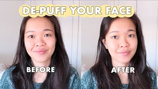 4 WAYS TO DEPUFF a bloated face in the morning or swollen eyes after crying 😂 | Asian Beauty Tips
