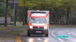 preview picture of video 'ITW BF Hannover FW 5 + MZF DRK Celle + 2x FuStW Polizei Hannover (HD)'