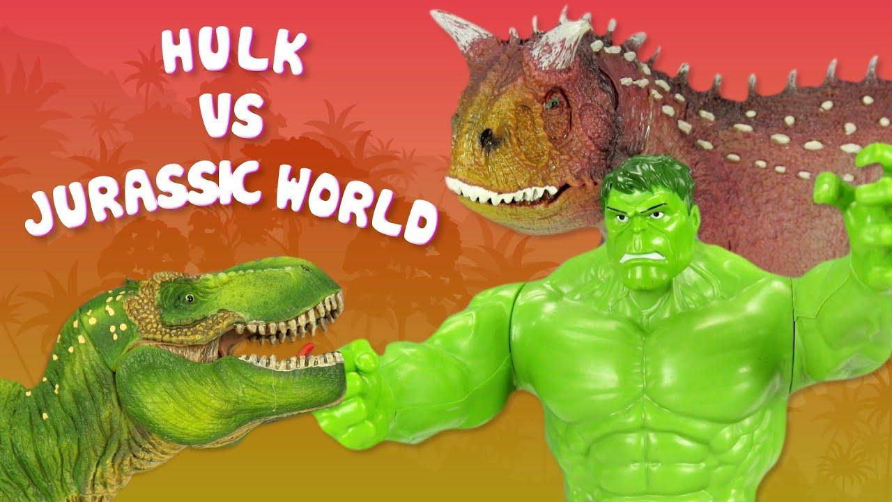 Hulk vs Indominus Rex de Jurassic World | Los Vengadores en la batalla final