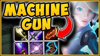 MAX ATTACK MACHINE GUN ORIANNA IS 100% BUSTED! ON-HIT ORIANNA TOP CHALLENGE! - League of Legends