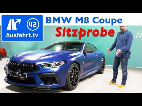 2019 BMW M8 Competition Coupé - Weltpremiere, Sitzprobe, kein Test