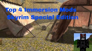 Skyrim Special Edition Remastered Top 4 immersion mods Frostfall Hunterborn, Campfire, ineed